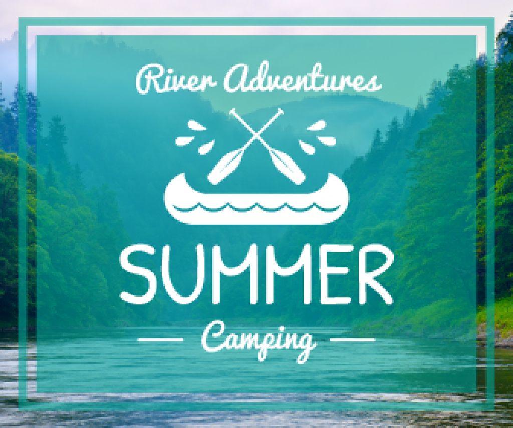 Summer camping poster — Crear un diseño