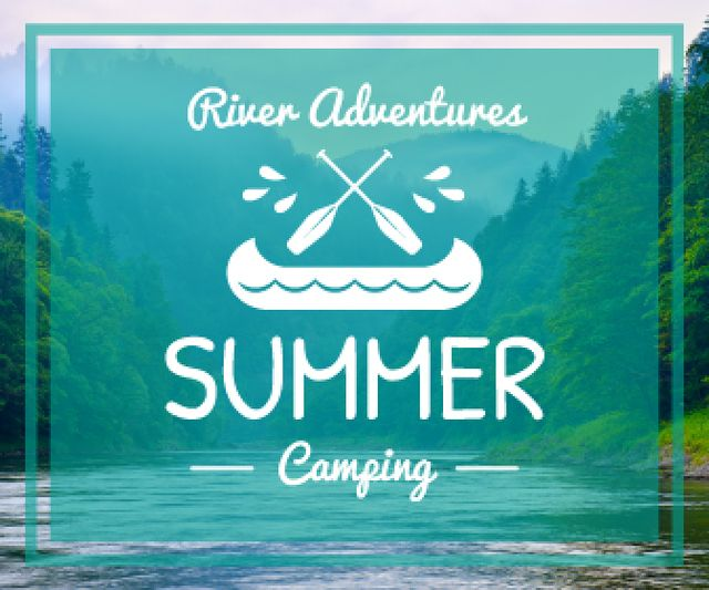 Ontwerpsjabloon van Large Rectangle van Summer camping poster