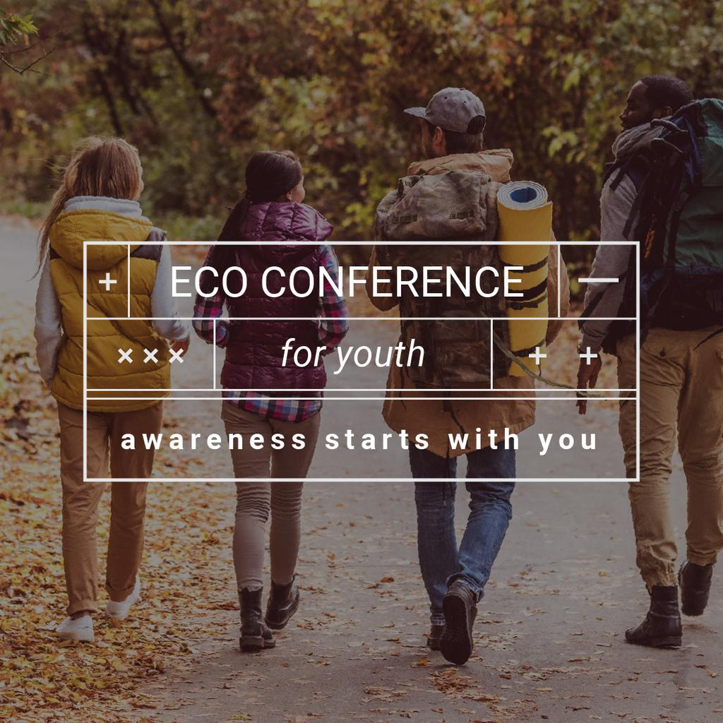 Eco Conference Announcement People on a Walk Outdoors - Bir Tasarım Oluşturun