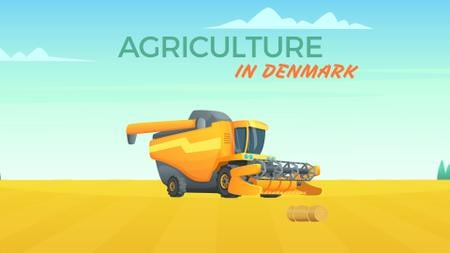 Template di design Harvester working in field Full HD video