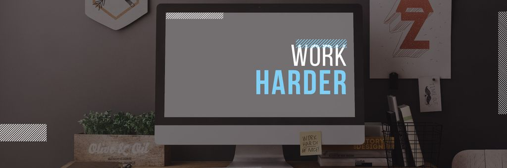 work harder motivational poster — Créer un visuel