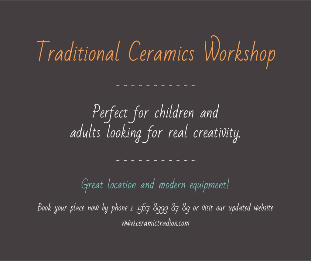 Traditional Ceramics Workshop promotion — Crear un diseño
