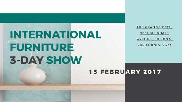 Furniture Show announcement Vase for home decor FB event cover Modelo de Design