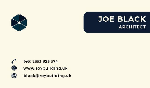 Ontwerpsjabloon van Business card van Architect Services Offer