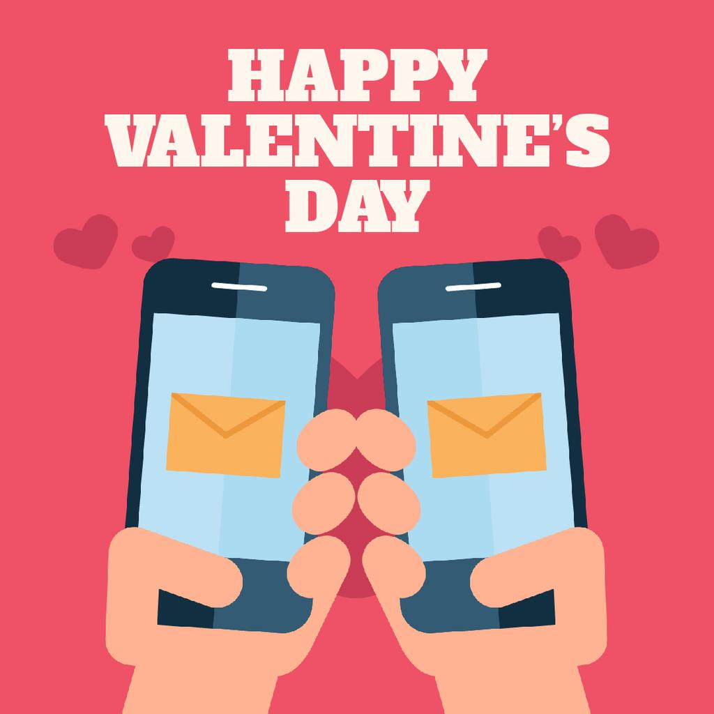 Valentine's Day with Couple sending Messages — Створити дизайн