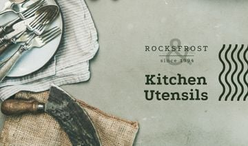 Kitchen Rustic Tableware | Business Card Template