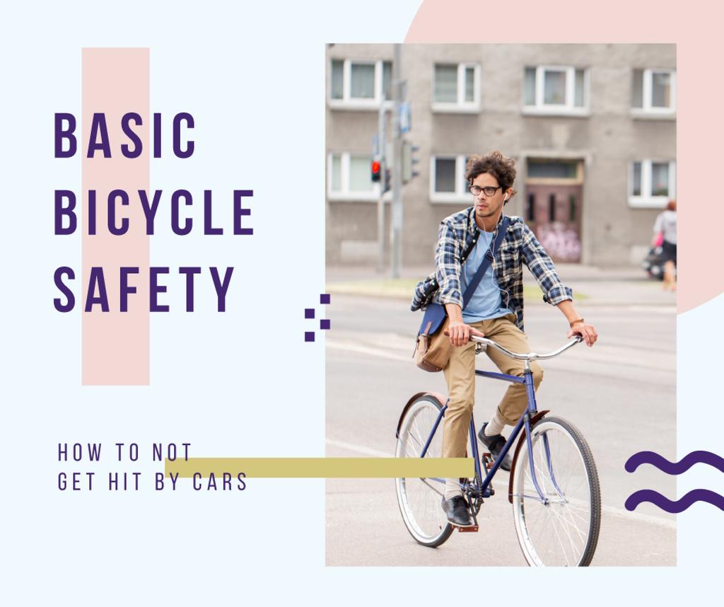 Man Riding bike in city — Crea un design