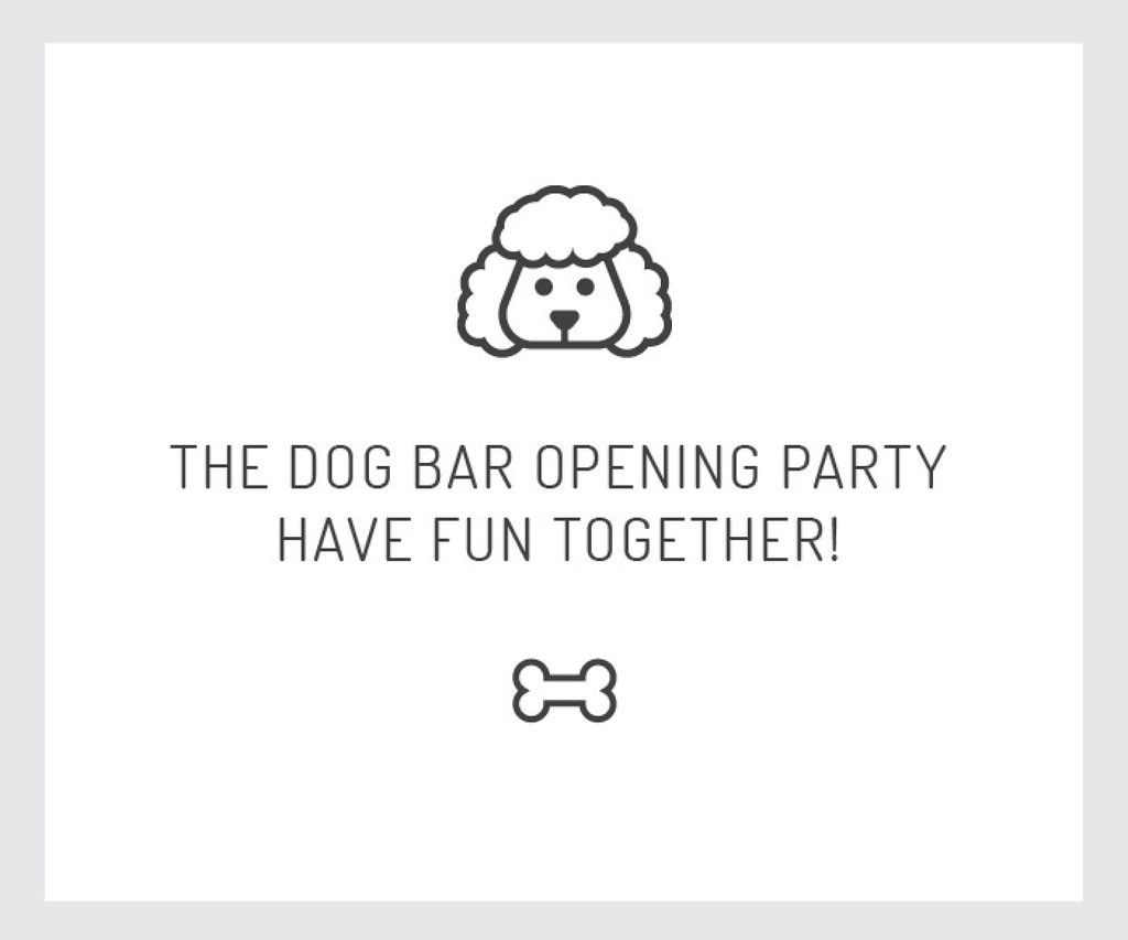 The dog bar opening party — Créer un visuel
