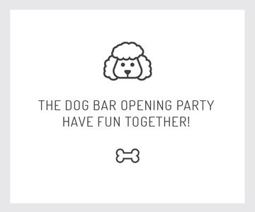 The dog bar opening party