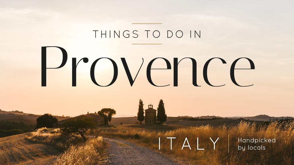Provence Travel Inspiration Scenic Countryside Landscape — Create a Design
