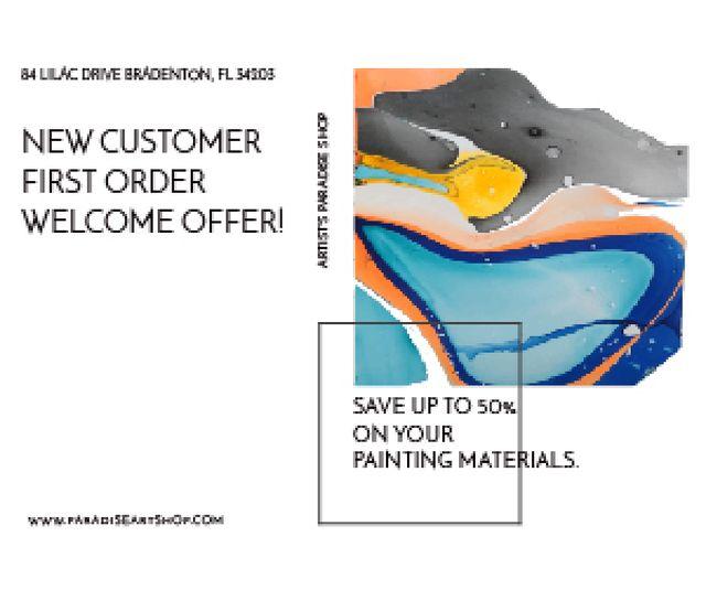Modèle de visuel Painting materials shop - Medium Rectangle
