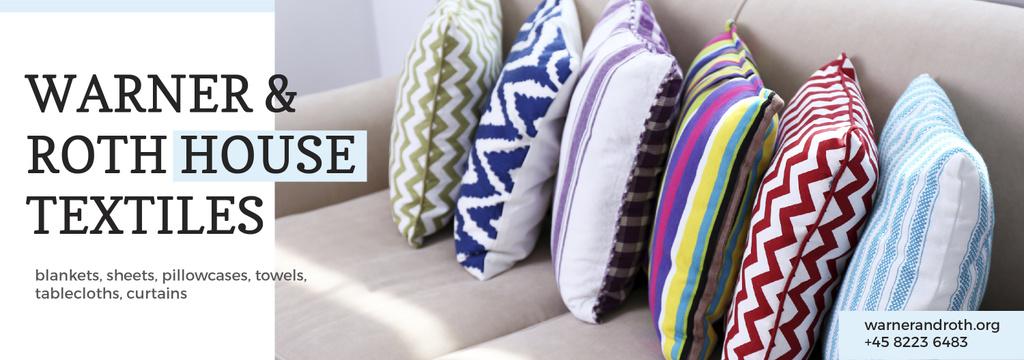 Modèle de visuel Home Textiles Ad Pillows on Sofa - Tumblr
