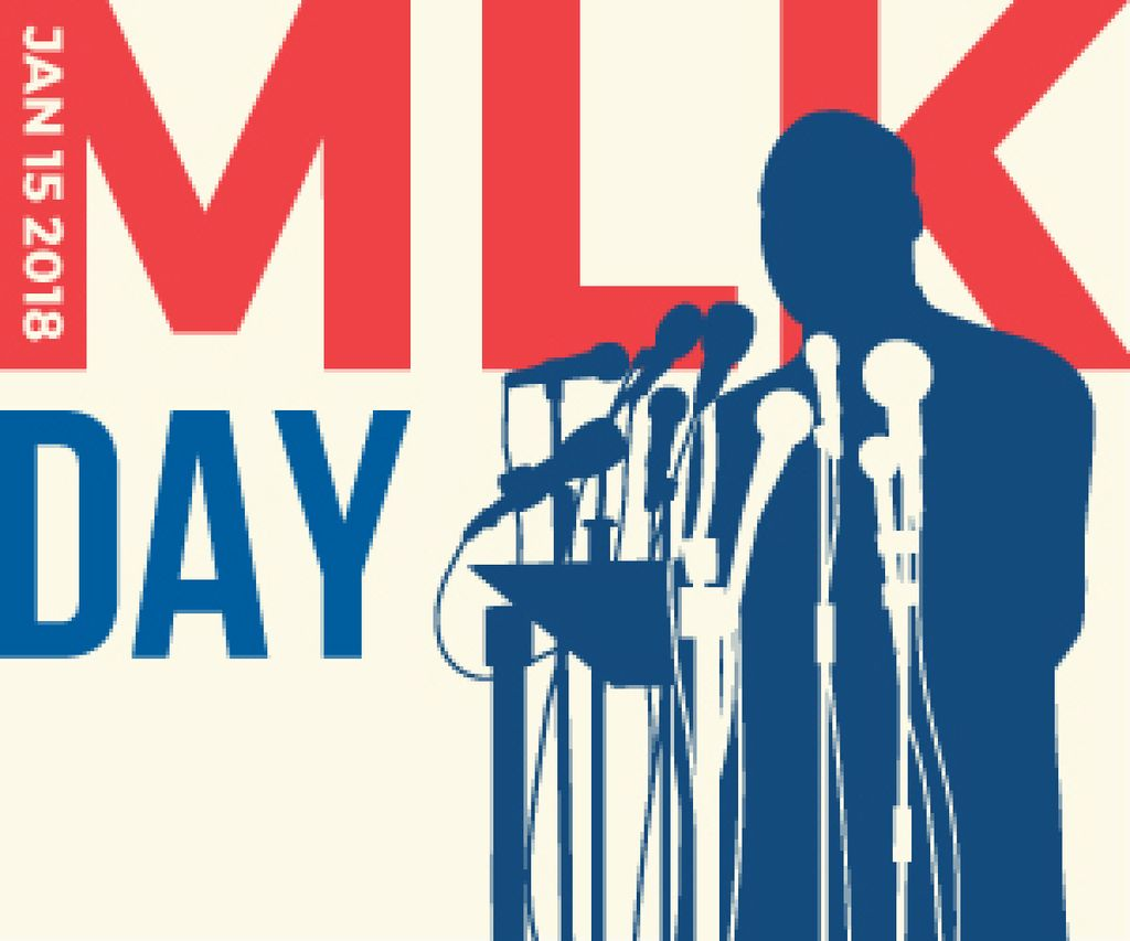 Martin Luther King day card — Crear un diseño