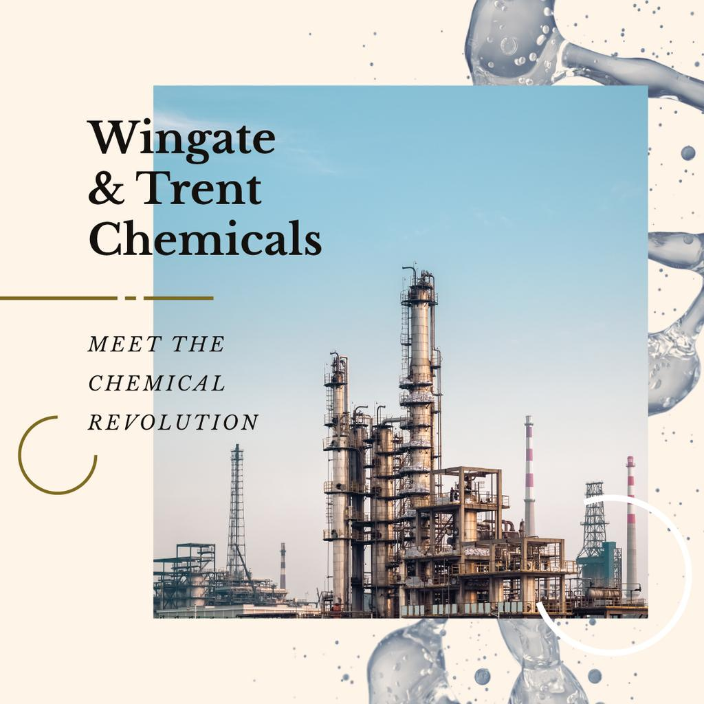 Industrial Plant with Chimneys | Instagram Ad Template — ein Design erstellen