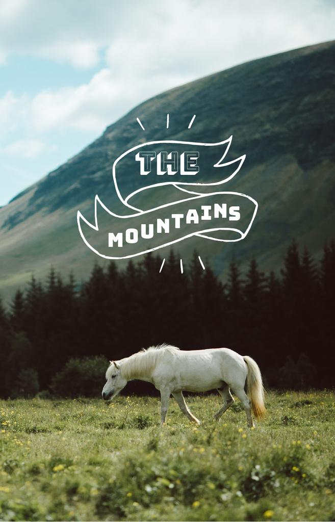 White Horse in Mountains IGTV Cover – шаблон для дизайну
