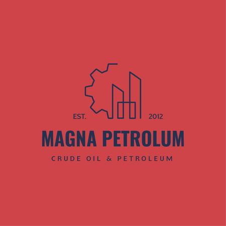 Petrol Transportation Industry Cogwheel Icon Logo – шаблон для дизайну