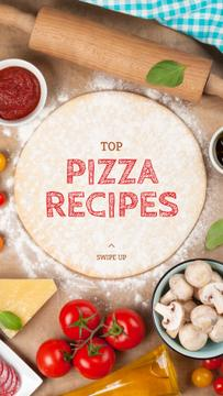 Restaurant promotion with Pizza ingredients