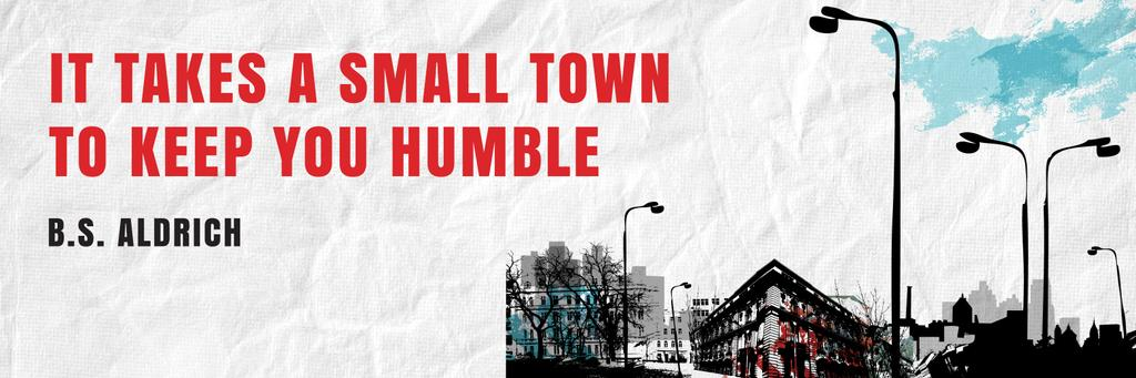 Citation about small town — Maak een ontwerp
