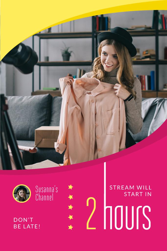 Fashion Blogger Filming Content — Modelo de projeto