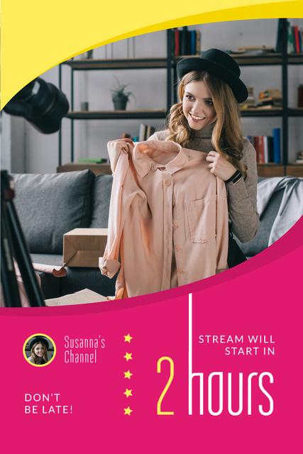 Fashion Blogger Filming Content Pinterest Πρότυπο σχεδίασης