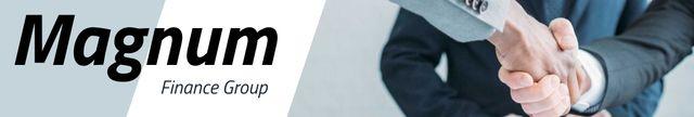 Businessmen Shaking Hands for Financial Company ad LinkedIn Cover – шаблон для дизайна