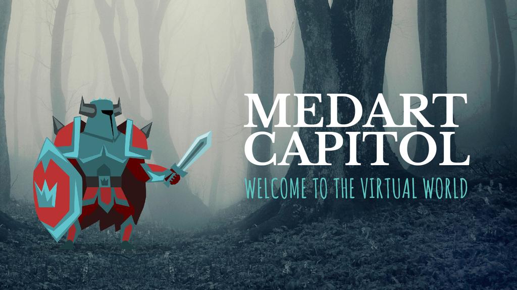 Virtual Game Medieval Knight in Armor | Full Hd Video Template — Maak een ontwerp
