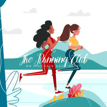 Template di design Women running in Park Animated Post
