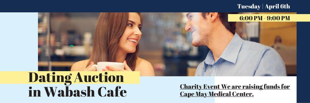 Dating Auction in Cafe Announcement with Couple - Bir Tasarım Oluşturun