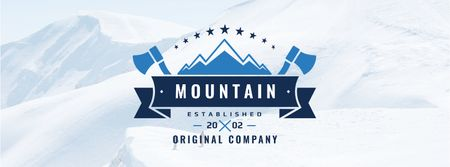 Szablon projektu Mountaineering Equipment Company Offer Facebook cover