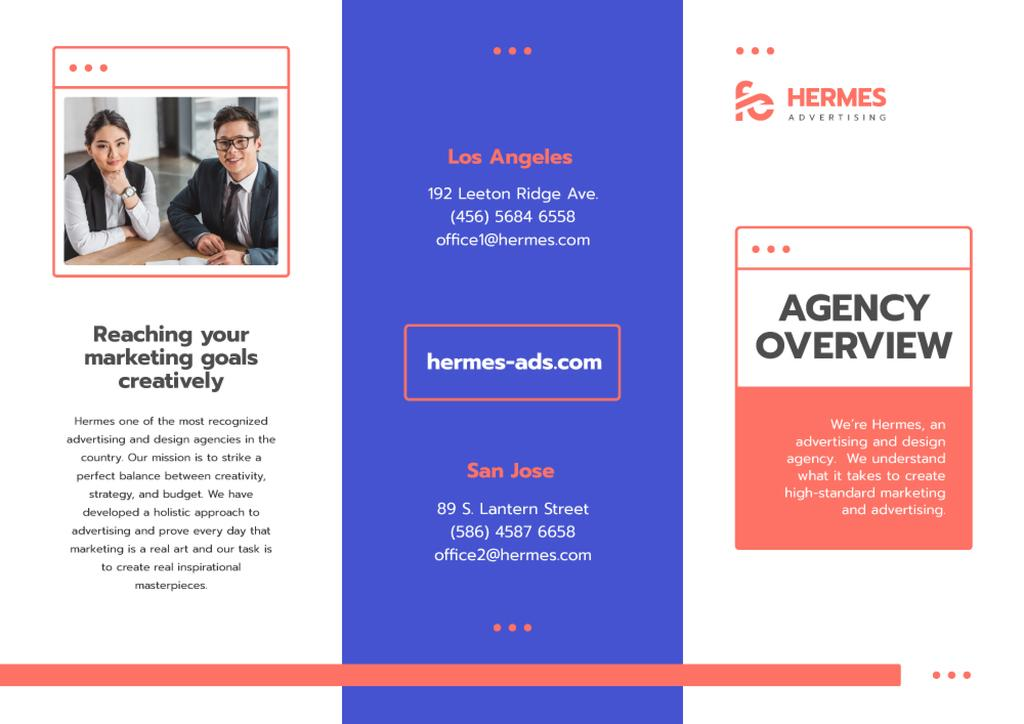 Advertising Agency Overview with Successful Businesspeople — Créer un visuel