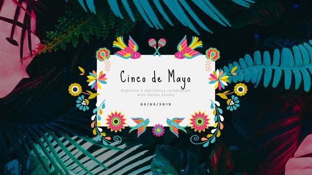 Template di design Cinco de Mayo Mexican holiday Full HD video