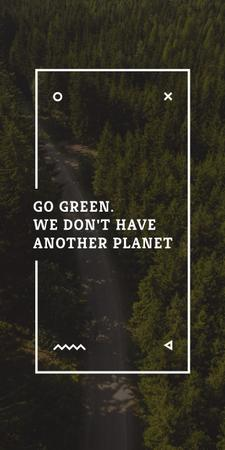 Plantilla de diseño de Ecology Quote with Forest Road View Graphic