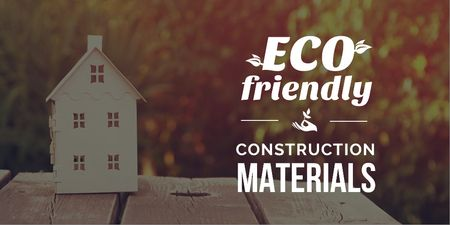 Designvorlage Construction shop with eco friendly materials für Twitter