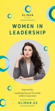 Leadership Conference Announcement Confident Businesswoman