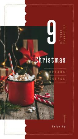 Template di design Hot Christmas cocoa Instagram Story