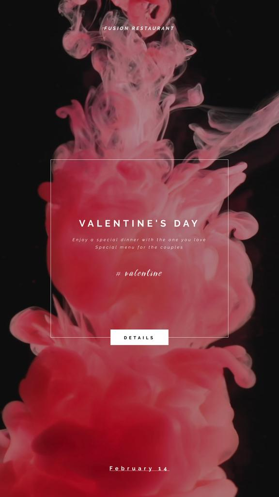 Valentine's Day Inviting Card Pink Ink Splashes — Create a Design