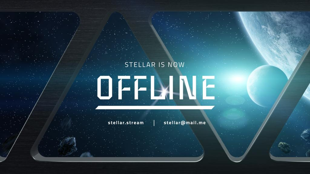 Stream Ad with View of Planets in Space — Crear un diseño