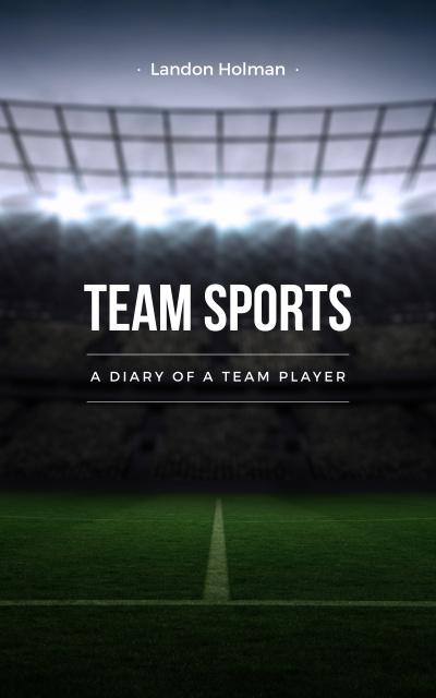 Ontwerpsjabloon van Book Cover van Illuminated football field