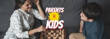 Mother and Son Playing Chess | Tumblr Banner Template