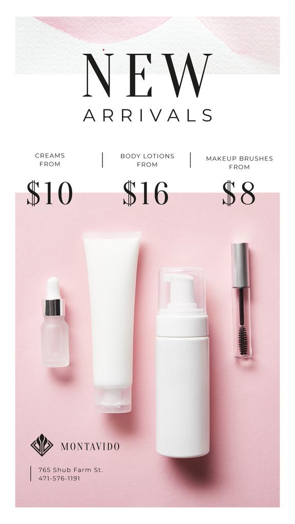 Cosmetics Ad Skincare Products Jars — Crear un diseño