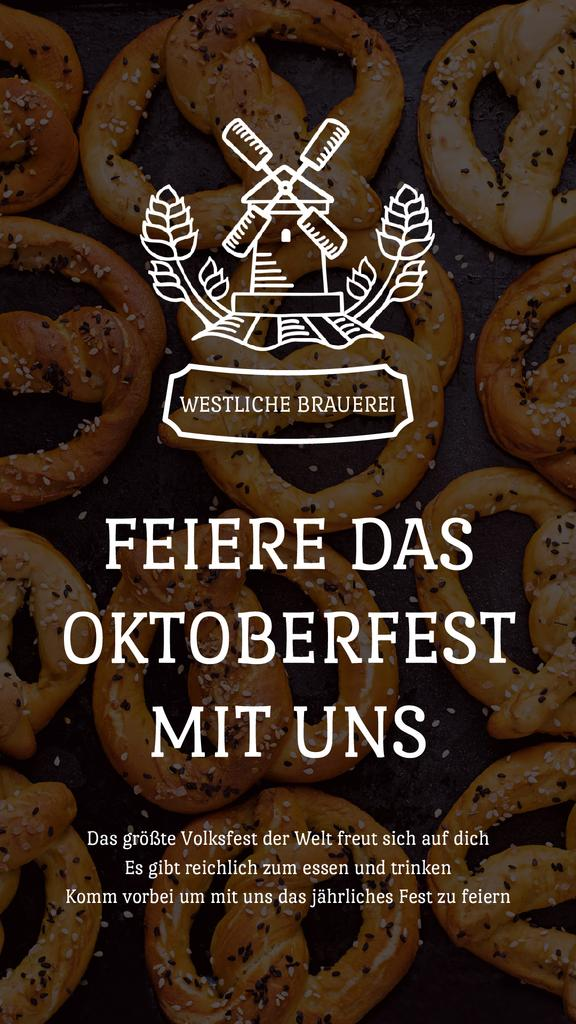 Oktoberfest Invitation with Pretzels and Mill — Modelo de projeto