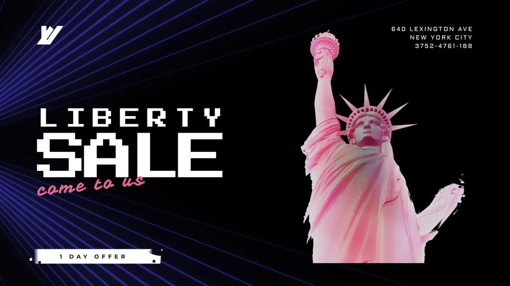 Independence Day Liberty Statue in Pink — Modelo de projeto