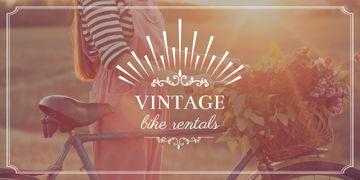 Vintage bike rentals poster