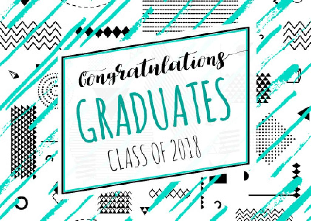 Congratulations Graduates in Blue | Card Template — Crear un diseño