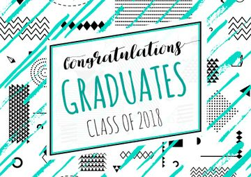 Congratulations Graduates in Blue | Card Template