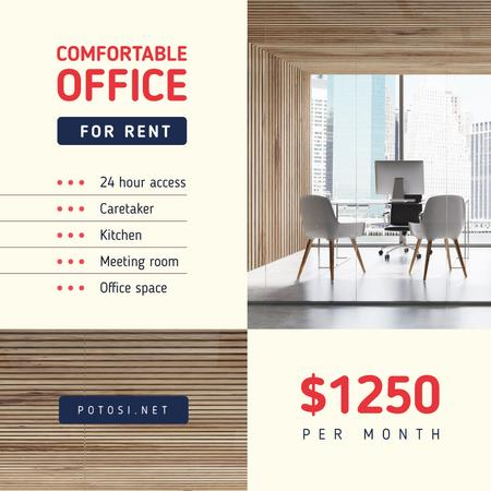 Ontwerpsjabloon van Instagram van Real Estate Offer Light Office View