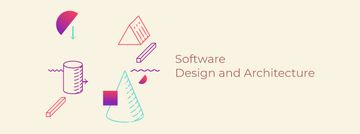 Software company Ad Moving geometric figures