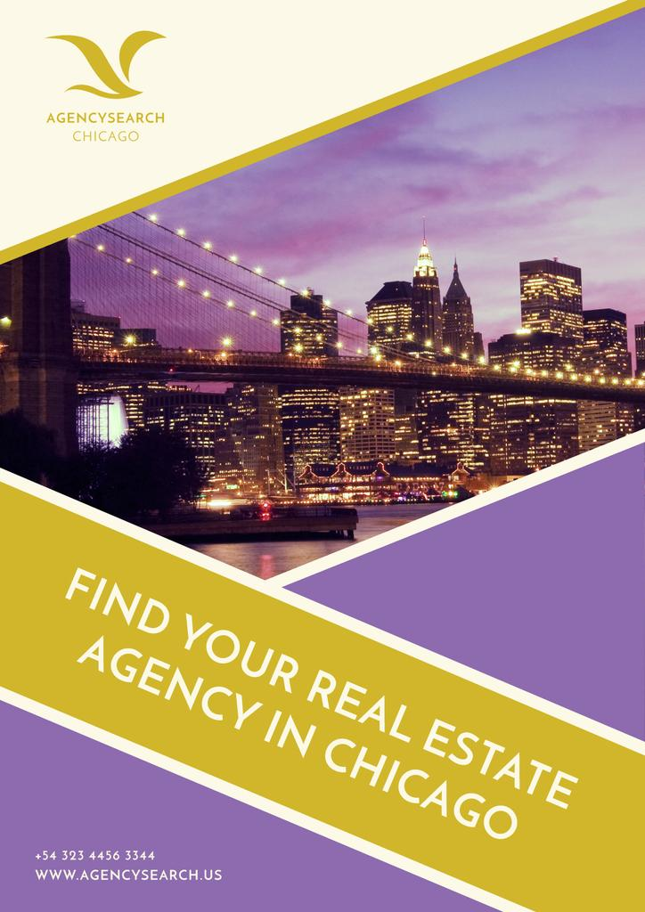 Real Estate in Chicago Advertisement | Poster Template — Створити дизайн