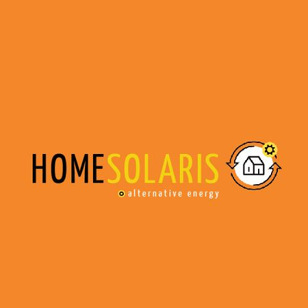 Alternative Energy Sources with Home Icon Animated Logo – шаблон для дизайну