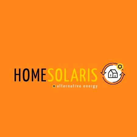 Alternative Energy Sources with Home Icon Animated Logo Modelo de Design